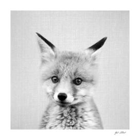Baby Fox - Black & White