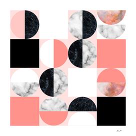 Hide and Seek Geometric Moon and Sun Pattern