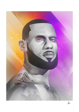 The King - LeBron James Portrait