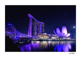 Blue Singapore by #Bizzartino