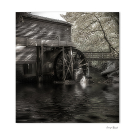 Grist Mill by Lake BW