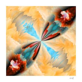 the orange petals