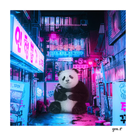 Giant panda in a Chinese street by GEN Z
