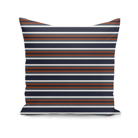 Navy and Rust Stripes II