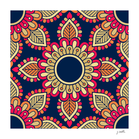 Mandala artwork, Colorful mandala flower No5
