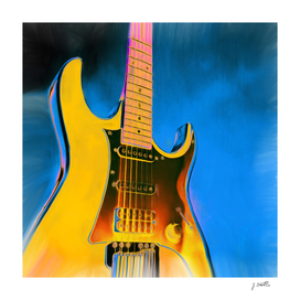 Guitar Painting, Pop Art Rock and Roll