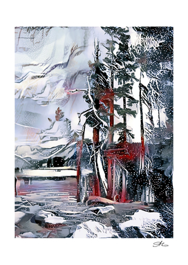Winter Lake Scenery