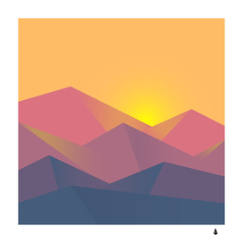 Sunset landscape graphics