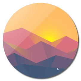 Sunset landscape graphics
