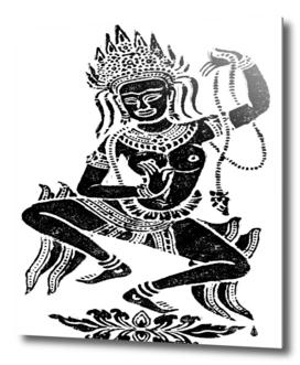 Temple dancer deity thailand