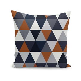 Navy and Rust Triangles I