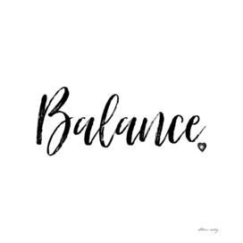 Balance in Black and White
