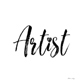 Artist in Black and White