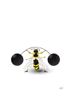 Watercolor super wasp