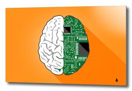 Technology brain digital creative