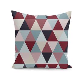Dark Blue Red and Beige Triangles
