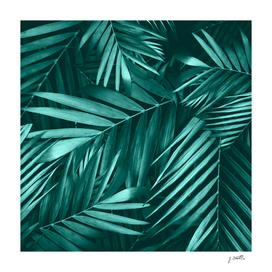 Palm Leaves Pattern, Green Floral Design