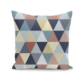 Triangles in Earth Tones and Blues