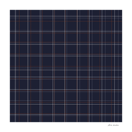 Navy and Rust Grid