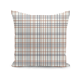 Navy and Rust Grid on light grey (almost white)