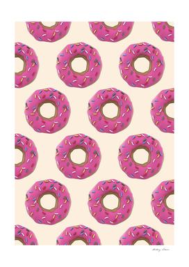 mmmmm Donuts - Pink & Tan