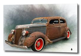 Auto old car automotive retro