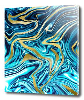 Ocean Gold Marble #1 #decor #art