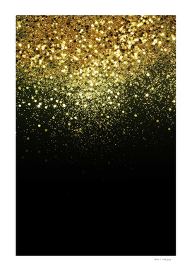 Sparkling Gold Glitter Glam #1 #shiny #decor #art