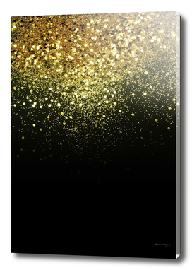 Sparkling Gold Glitter Glam #1 #shiny #decor #art