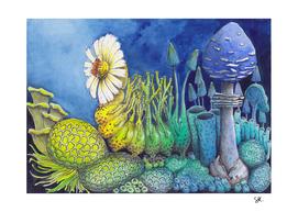 Ascent, Caterpillar in Blue Hues