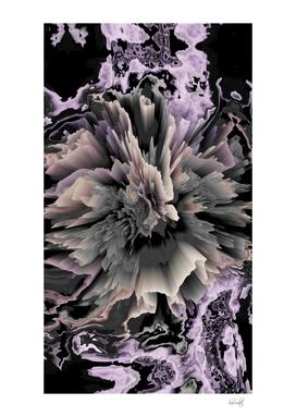 marble glitchy flower