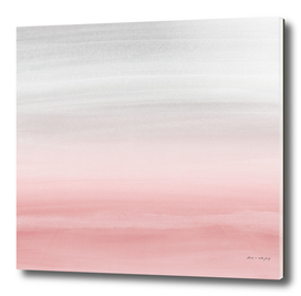 Touching Blush Gray Watercolor Abstract #1 #painting #decor