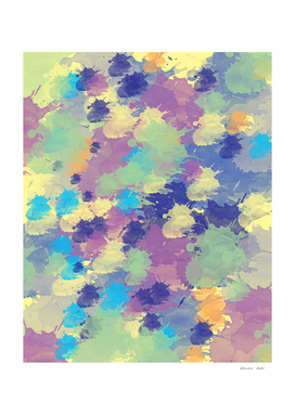 Spring watercolor splash