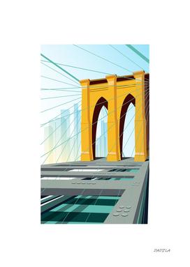 Brooklyn bridge Gold