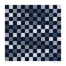 Navy Grey Blue Checks