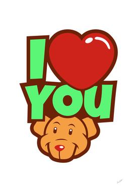 Lovely Bear - I Love You