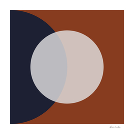 Circle on Navy and Rust