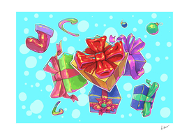 Snowfall from gifts