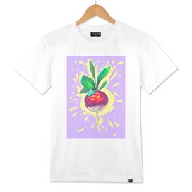 Radish comic creative style. Vegetable.