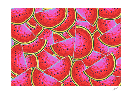 Watermelon pattern.