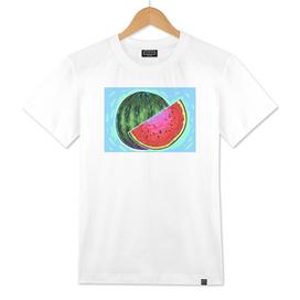 Watermelon comic vector art.