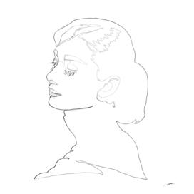 Audrey Hepburn Fair Lady unicursal