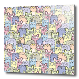 A Crowd Of Cats Pattern