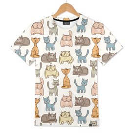 Never-ending Cute Cats Pattern