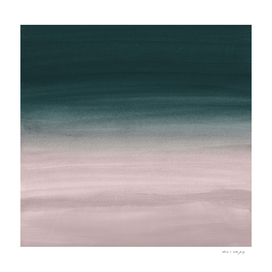 Touching Teal Blush Watercolor Abstract #1 #painting #decor