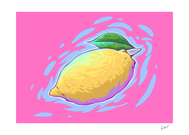 Lemon comic vector art.