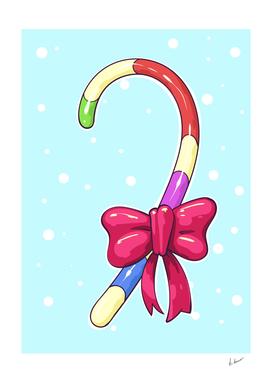 Candy cane vector comic art.