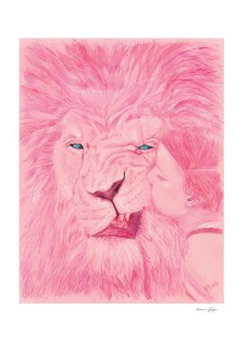 Lion & girl