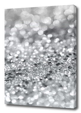 Silver Gray Lady Glitter #1 #shiny #decor #art