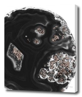 Black Malachite with Rose Gold Glitter #1 #shiny #gem #decor